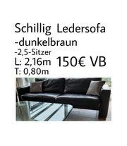 Sofa Leder dunkelbraun