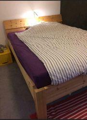 Doppelbett Echtholz