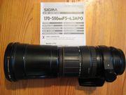 Sigma 170-500 mm F 5