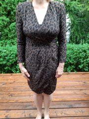 Seiden-Kleid Gr 40 braun mit