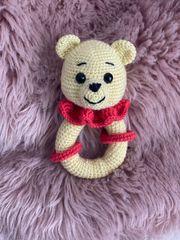 Babyrassel Teddybär Handgefertigt
