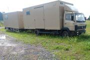 Pferde Tranporter LKW mit Kofferanhänger