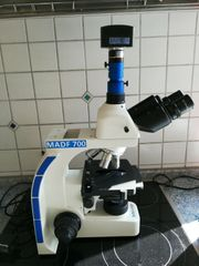 MikroAge Dunkelfeldmikroskop MADF 700und Dunkelfeldkamera