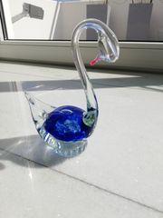Schwan Figur aus Kristallglas