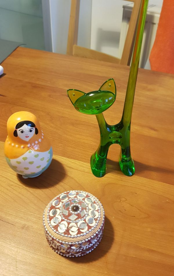 Schmuckschatulle Koziol Ringhalter-Katze Porzellanpuppe