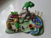 playmobil Garten Bach