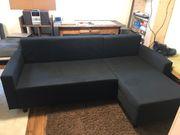 IKEA Bettsofa Couch Schwarz