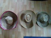 3sehr schöne Strohhüte Sombrero Garten