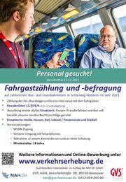 Nebenjob Fahrgastbefragung -zählung in Schleswig-Holstein