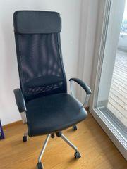 Fast neuer Lederstuhl Bürostuhl