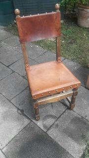 Stuhl Lederstuhl antik rustikal