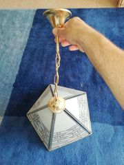 Tiffany Hängelampe gold Lampe Glas