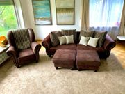 Big Sofa Couch Wohnlandschaft Garnitur