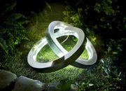 Solarleuchte Ringe Solarlampe Solar Gartenlampe