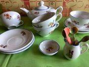 Puppenservice für Kinderküche aus Porzellan