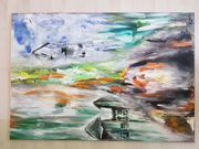 Surreale Abstrakt Acrylbild