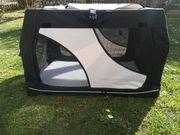 Trixie Hundetransportbox Vario grau schwarz