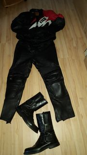 Motorrad Lederkombi IXS mit Stiefel