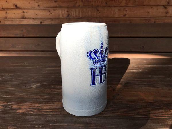Bierkrug Maß Hofbräuhaus Steinzeug 1, 0 liter