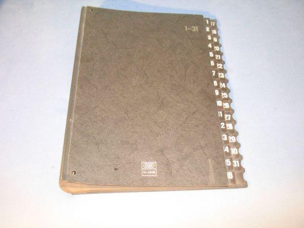 ELBA Pultordner 1-31 schwarz Unterschriftenmappe