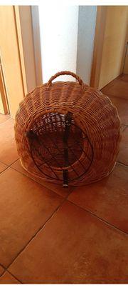 Katzenkorb rattan Transportbox
