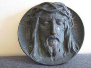 Sehr altes Jesus Relief Bild - Metall