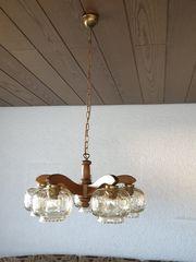 Gebrauchte Hänge-Lampe Eiche rustikal