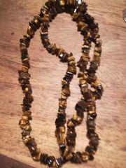 Tigerauge Steinkette Halskette Schmuck nur