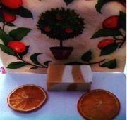 Handgefertigte Luxusseife Orangenhain 5 60