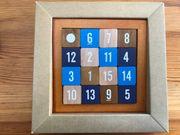 Zahlen-Schiebepuzzle aus Holz