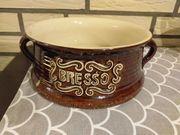 BRESSO Keramik braun glasiert Schüssel