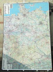 Farbige Deutschland Landkarte Top Zustand