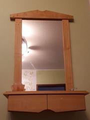Wandspiegel mit Ablage und Schubladen