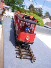 LGB-Straßenbahn G-Spur und drei Beiwagen - Rarität