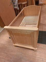 Baby Kinderbett Holz massiv