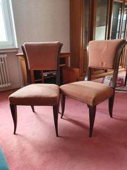 Zwei Antike Echtholz Stühle