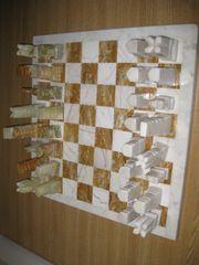 TOP Schachspiel Marmor Onyx Handarbeit