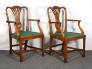 Paar Armlehnstühle Sessel Mahagoni Stuhl