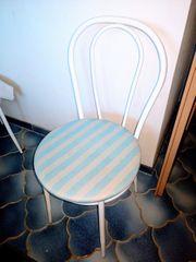 Gepolsterter Stuhl 3 Stück Metall