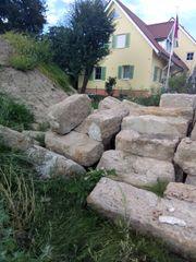 Natursandsteine verschiedene Größen