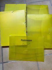 4 x Ordnungsbox A4 gelb