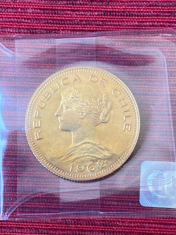 Goldmünze 100 Pesos Chile 1962
