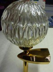 Wandleuchte Objekt mit 24 Kvergoldet