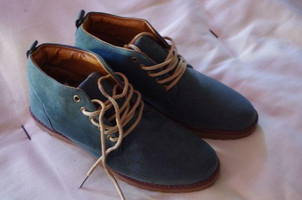Leder Schuhe Türkis Sommer Herbst