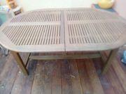 Ovaler Gartentisch Holz ausziehbar