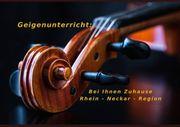 Geigenunterricht in Rhein - Neckar - Region