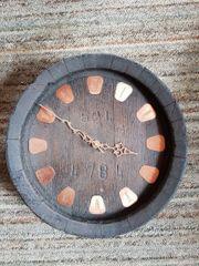 Fassuhr Uhr Wanduhr aus altem
