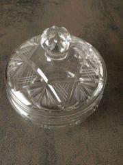 Glasdose Glasglocke mit Deckel Bleikristall