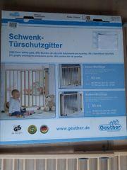 Geuther - Schwenk-Türschutzgitter Holz natur 86 -