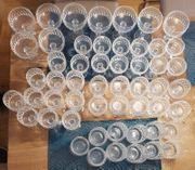 Kristallgläser zu verkaufen verschiedene Modelle